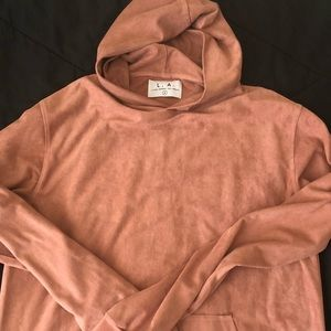 M suede urban outfitters hoody